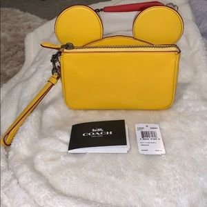 coach wristlet limited edition mickey mouse